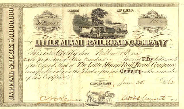 picture of stock certificate